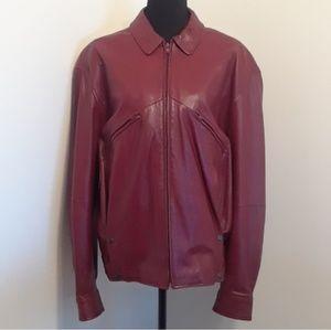 STUNNING Vintage RED Leather Jacket ❤